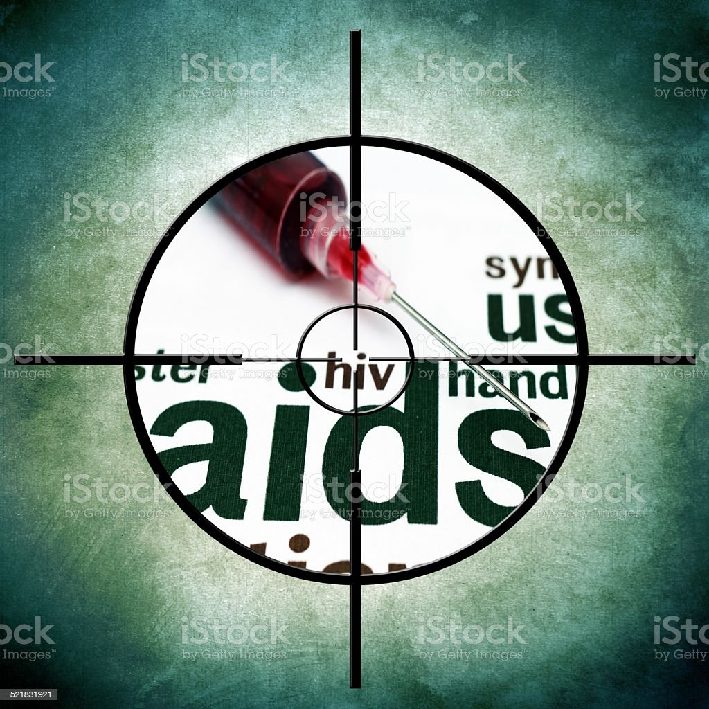 Aids target stock photo