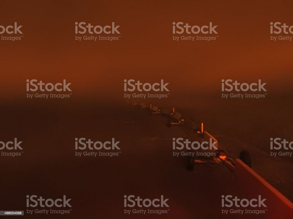 Aifield Weather Safeguarding Barrier stock photo