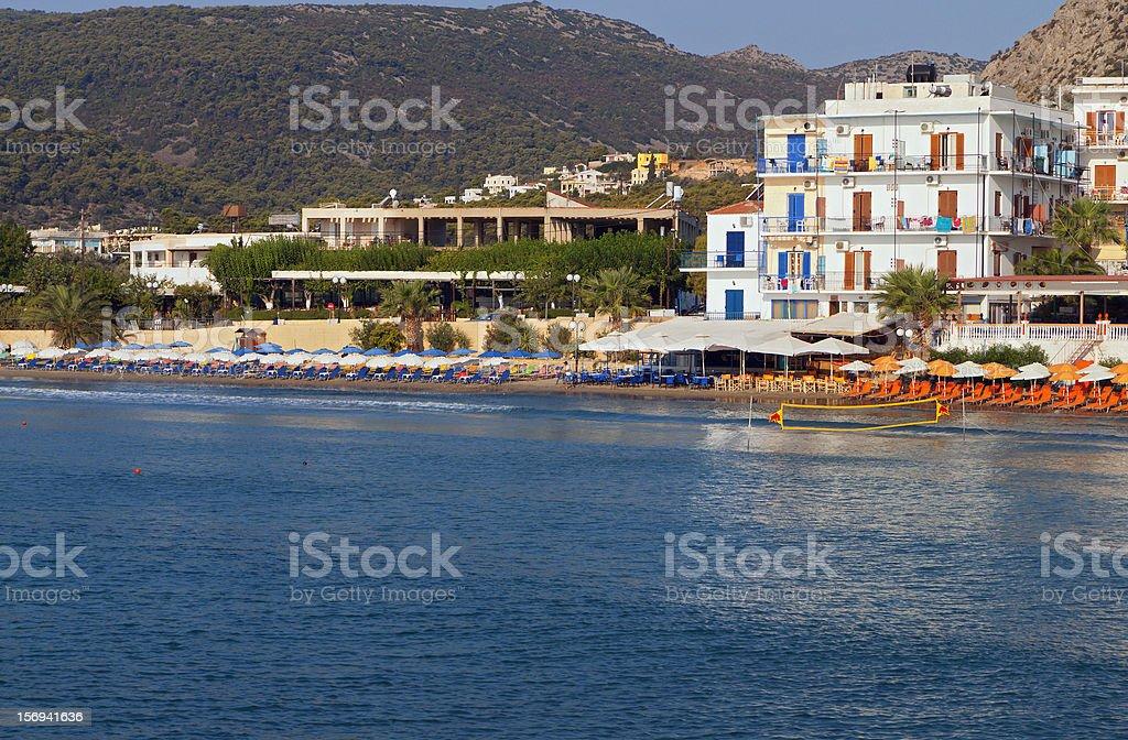 Aigina island in Greece stock photo