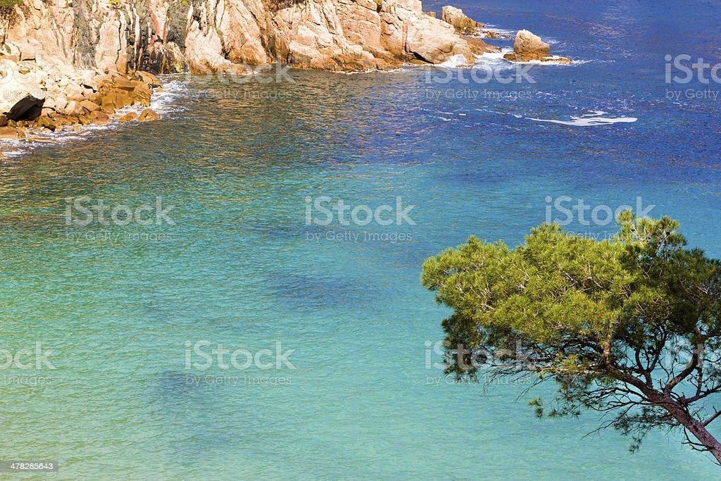 Aigua Blava coast in Begur royalty-free stock photo