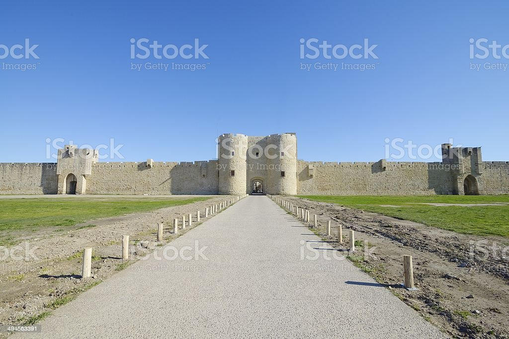 Aigues Mortes, southern France. stock photo