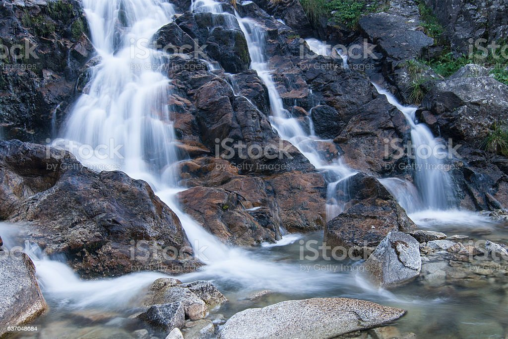Aigues Tortes Waterfall stock photo