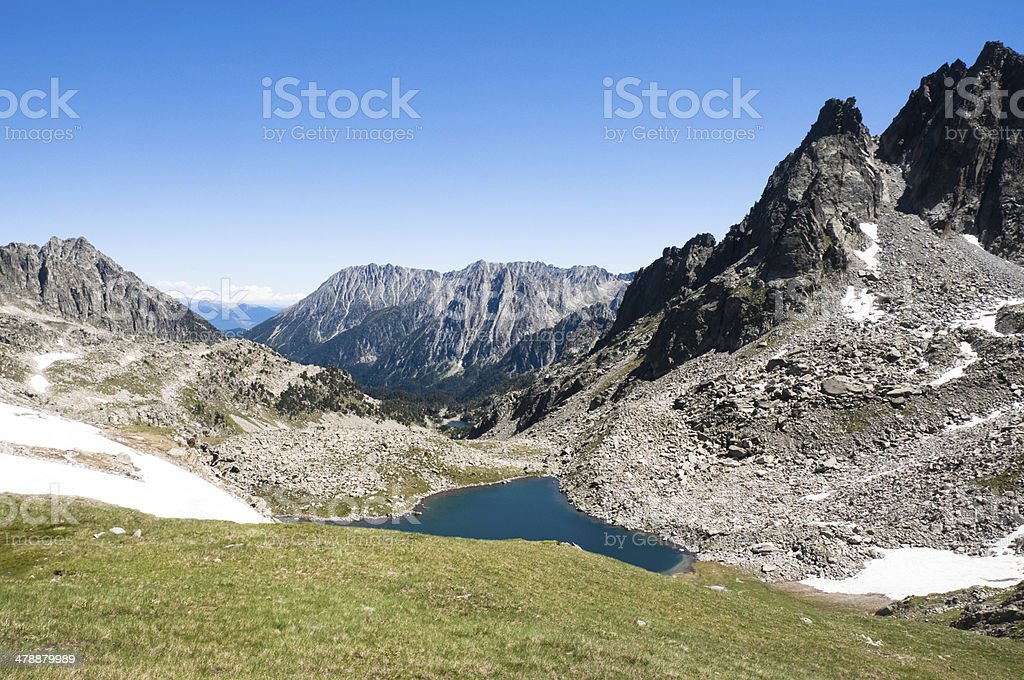 Aiguestortes and Sant Maurici National Park, Pyrenees (Spain) stock photo