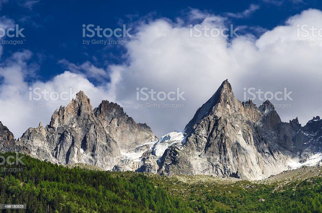 Aiguille de Midi, Mont Blanc, Chamonix stock photo
