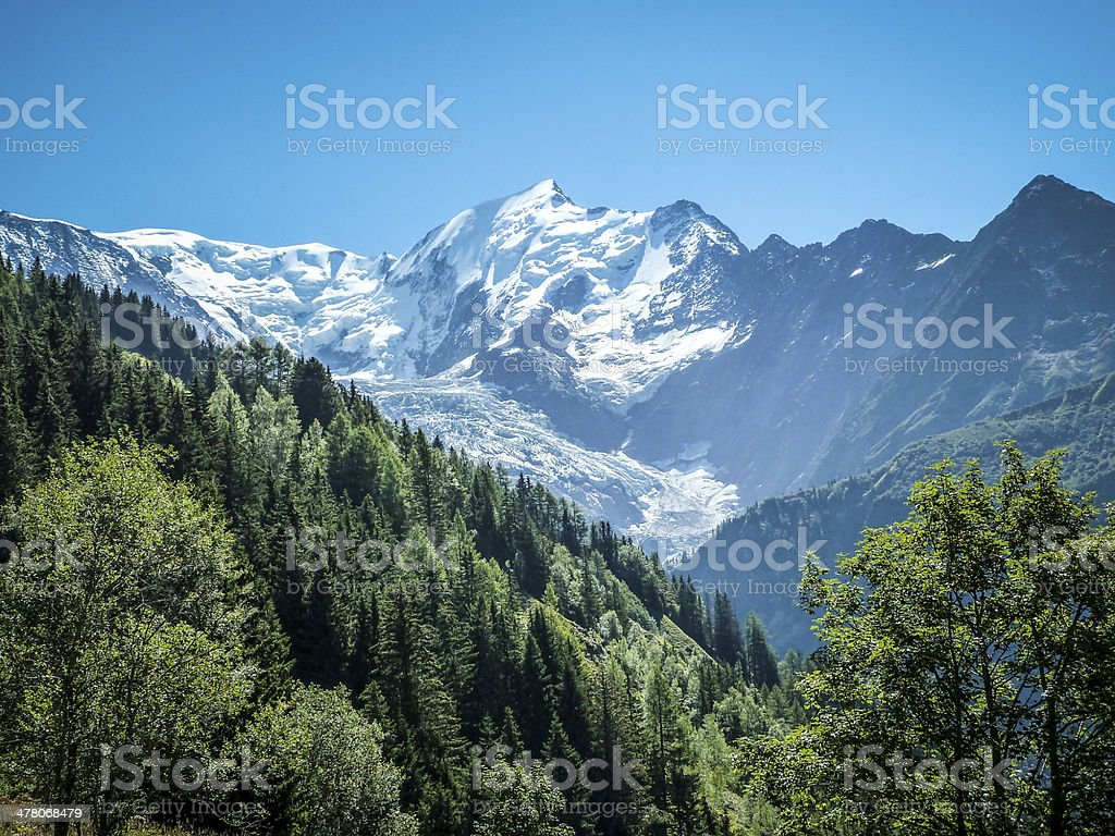 Aiguille du Bionnassay, French Alps royalty-free stock photo
