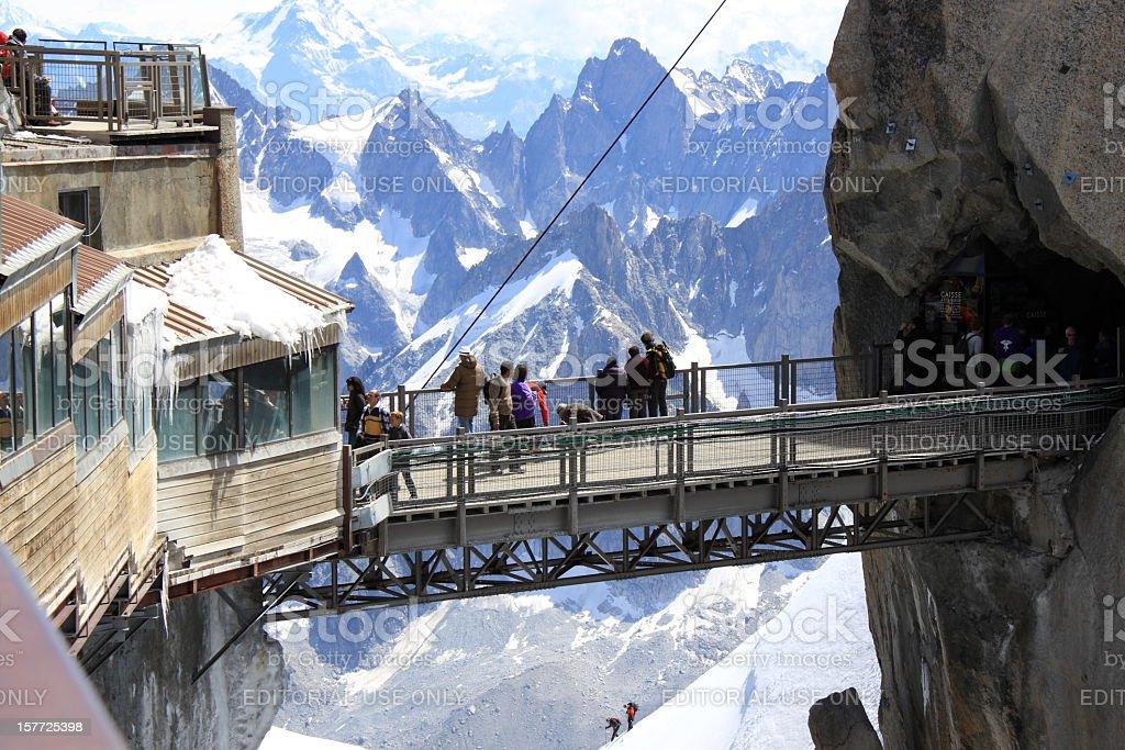Aiguille du Midi Bridge stock photo