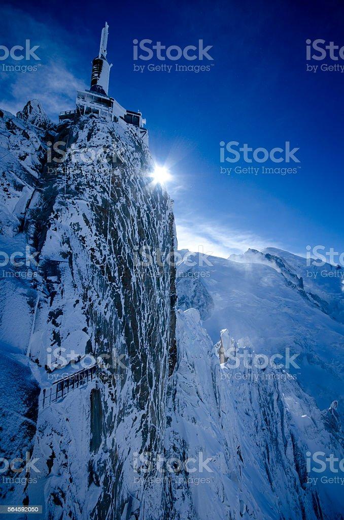 Aiguille Du Midi Chamonix France stock photo