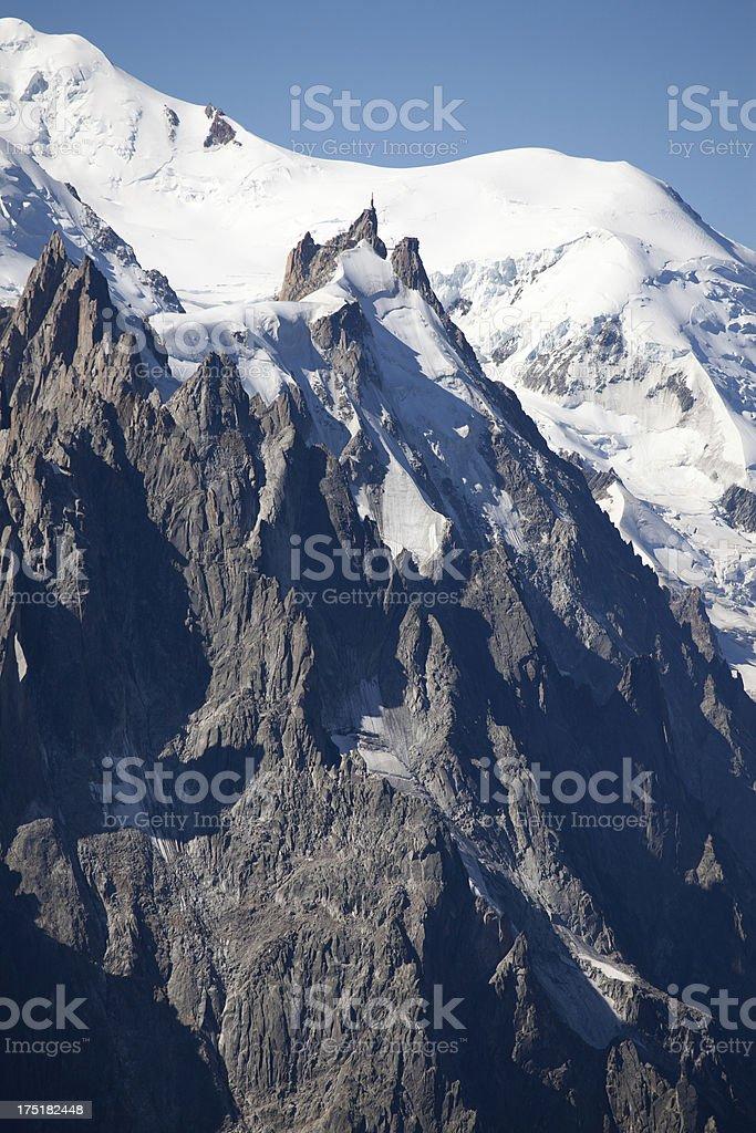 L'Aiguille du Midi French Alps royalty-free stock photo