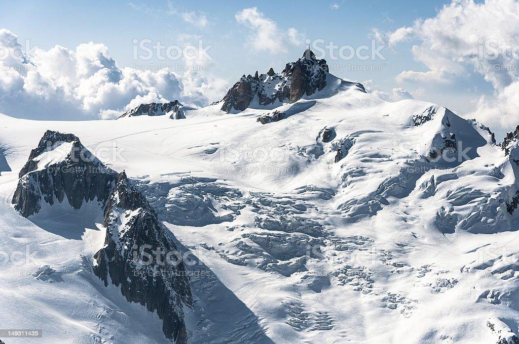 Aiguille du Midi dans le Massif du Mont Blanc photo libre de droits