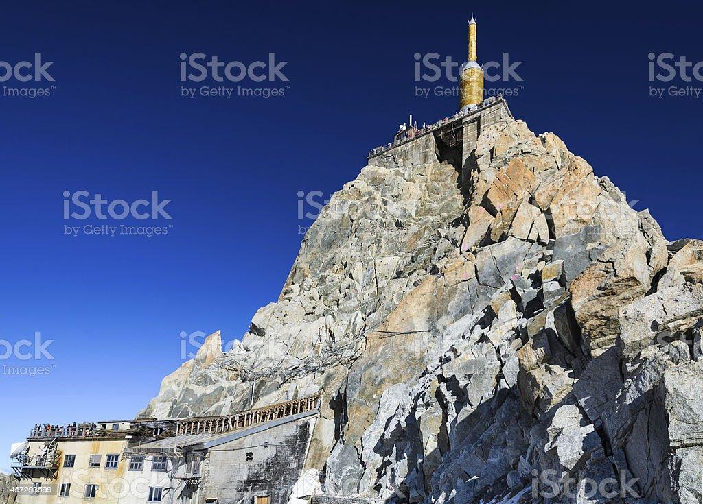 Aiguille du Midi mountain in French Alps stock photo