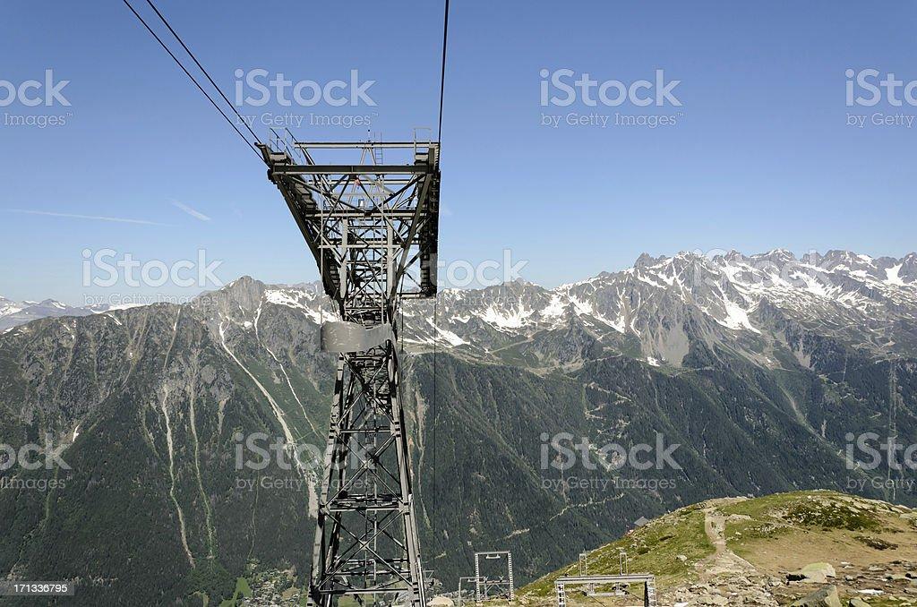Aiguille du Midi royalty-free stock photo