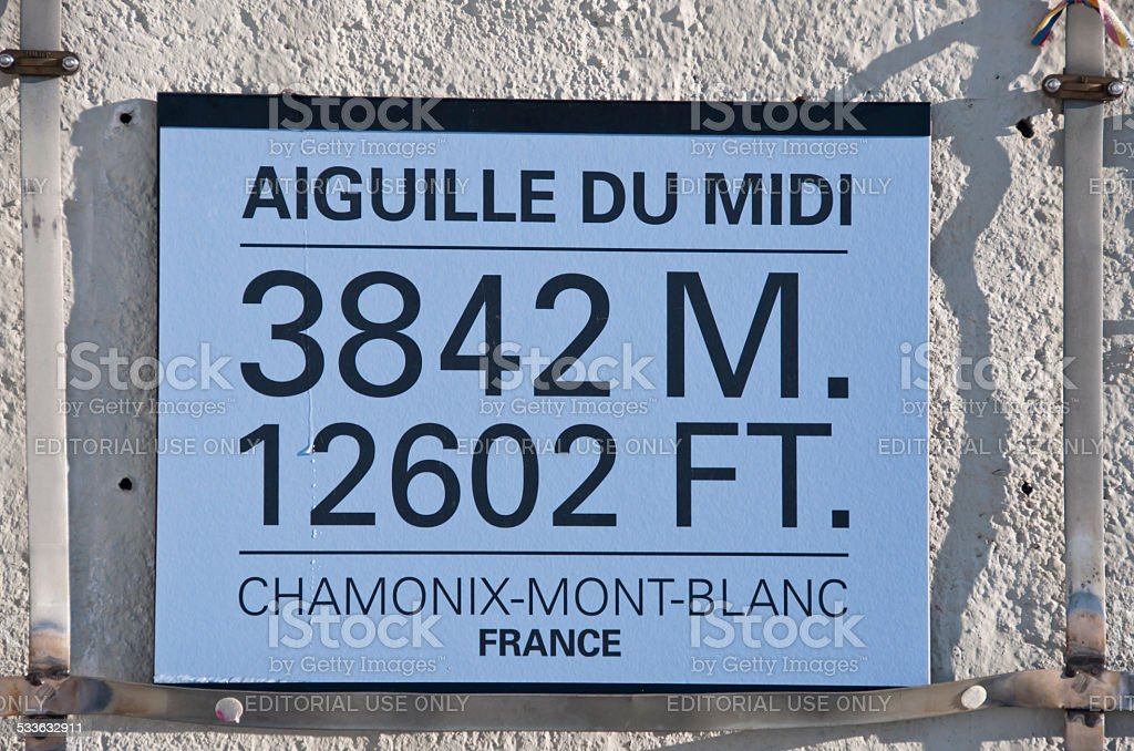 Aiguille du Midi stock photo