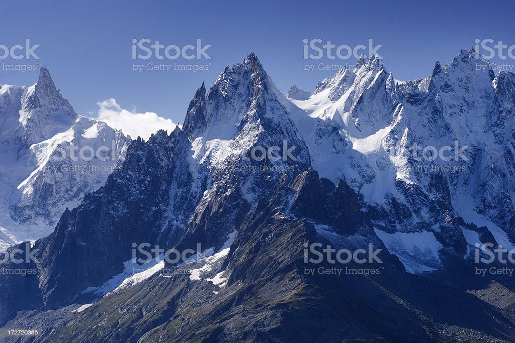 Aiguilles de Chamonix stock photo