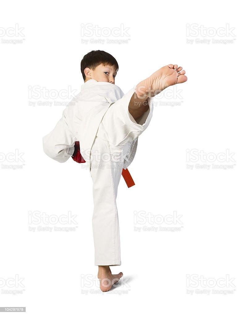 aikido boy royalty-free stock photo