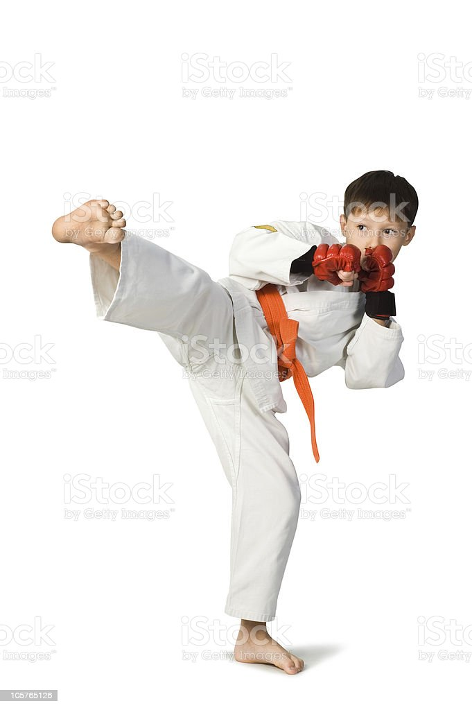 aikido boy royalty-free stock photo