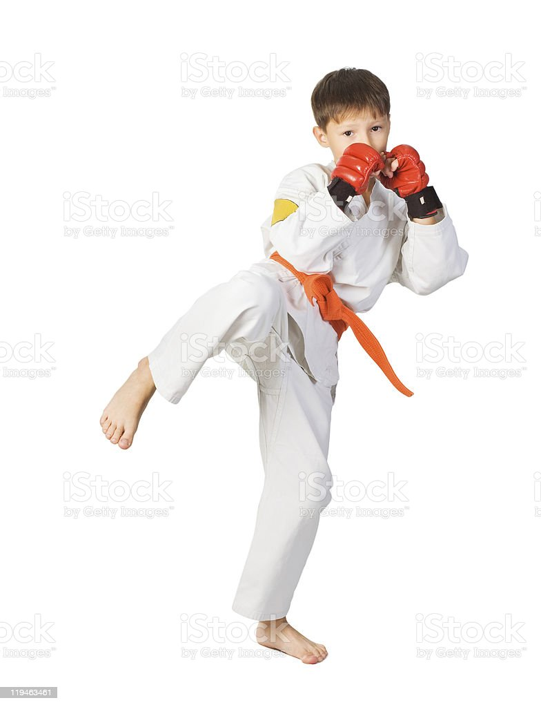 Aikido boy.Martial Arts royalty-free stock photo