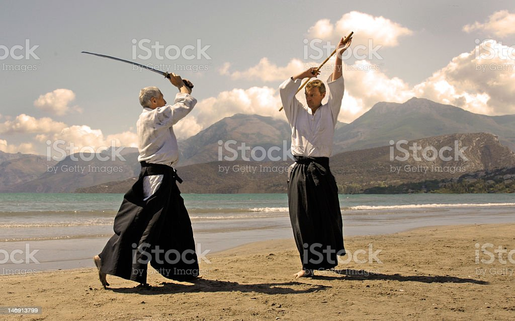 aikido in japon stock photo