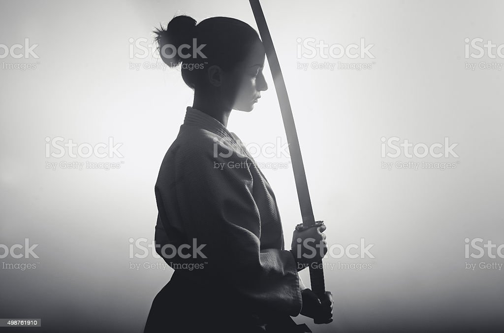 Aikido woman stock photo