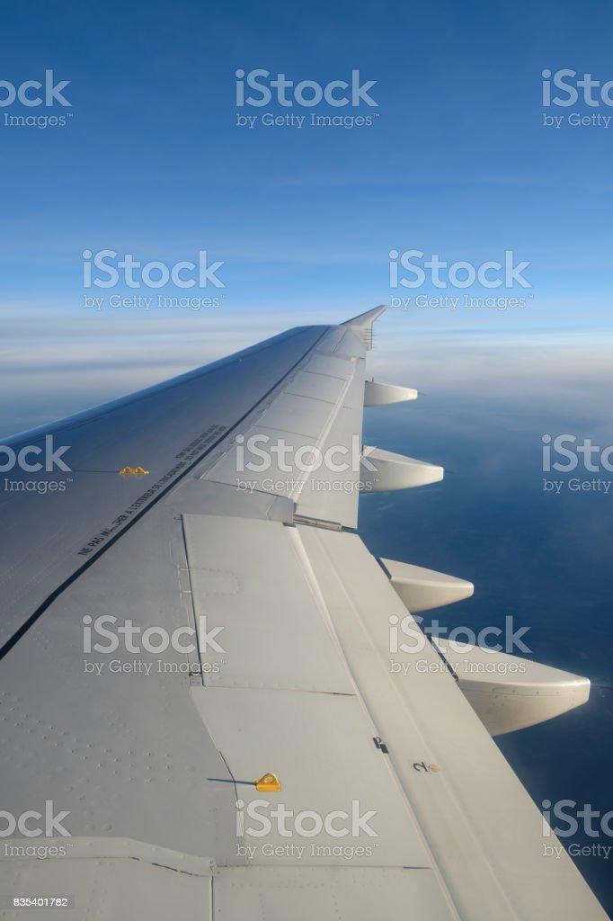 Aile d'avion stock photo