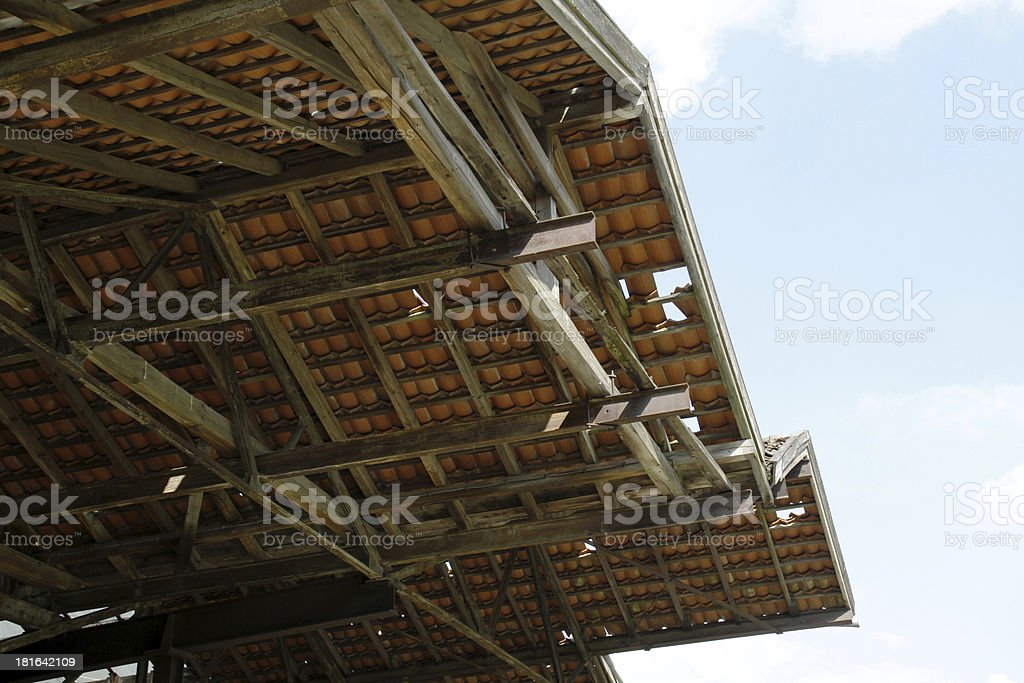 Ailing roof stock photo