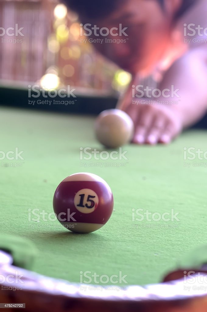 Aim the ball stock photo