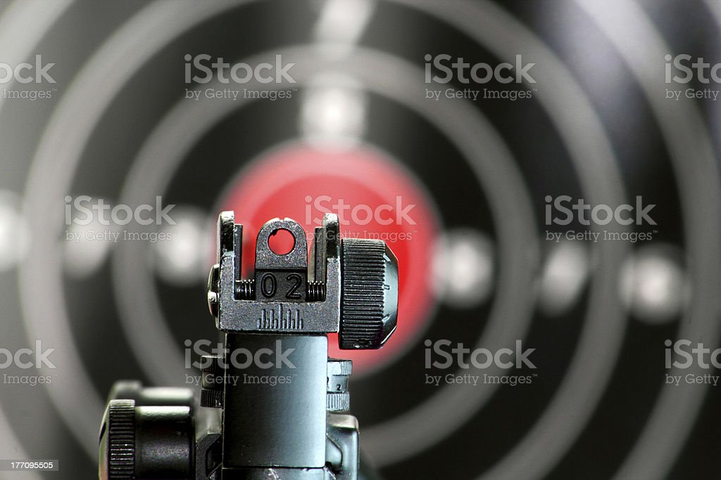 Aim to the target royalty-free stock photo