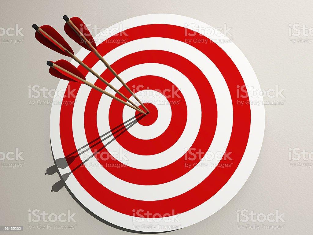 Aimed target stock photo