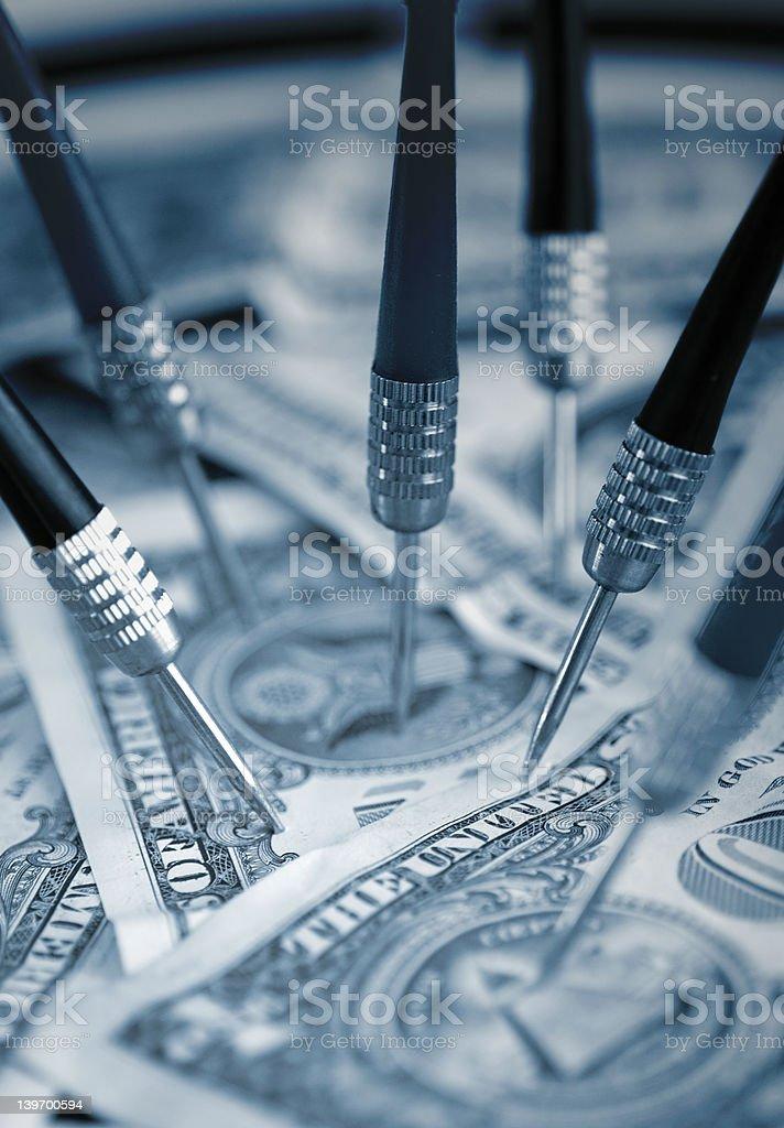 Aiming at US Dollars royalty-free stock photo