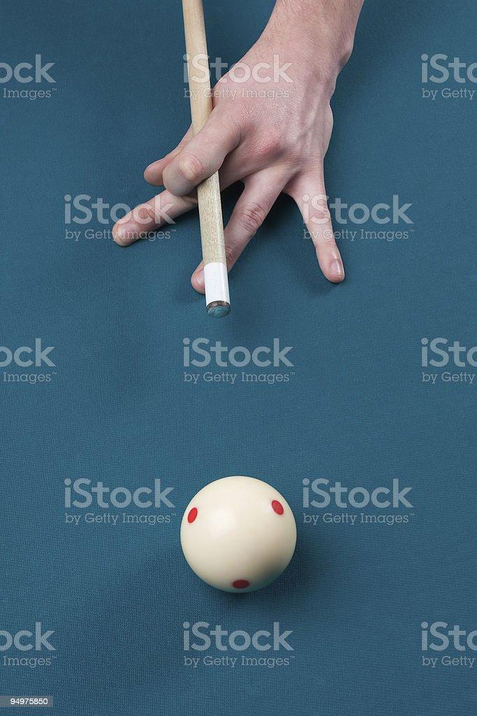 aiming cue ball stock photo