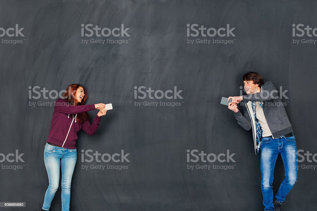 Aiming for better communication stock photo