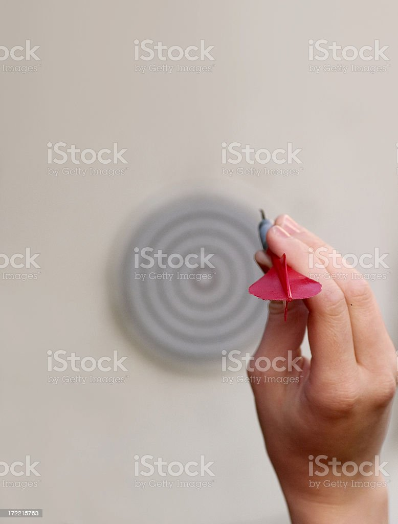 aiming for bullseye royalty-free stock photo