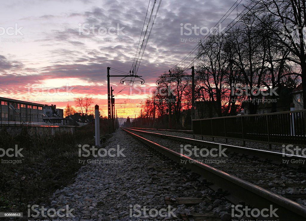 Aiming into the sunset royalty-free stock photo