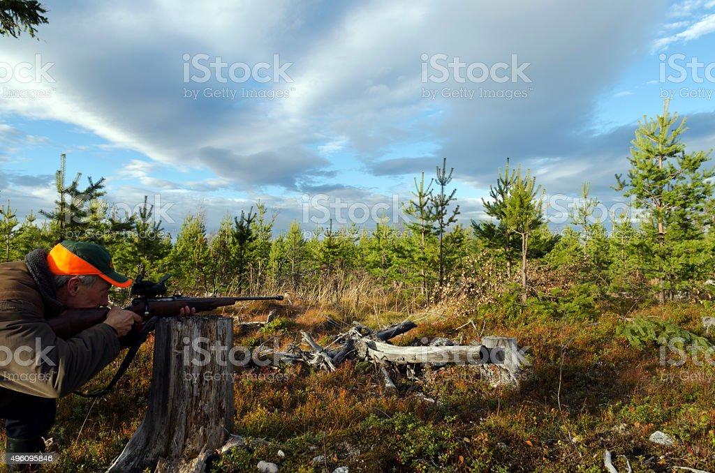 Aiming stock photo