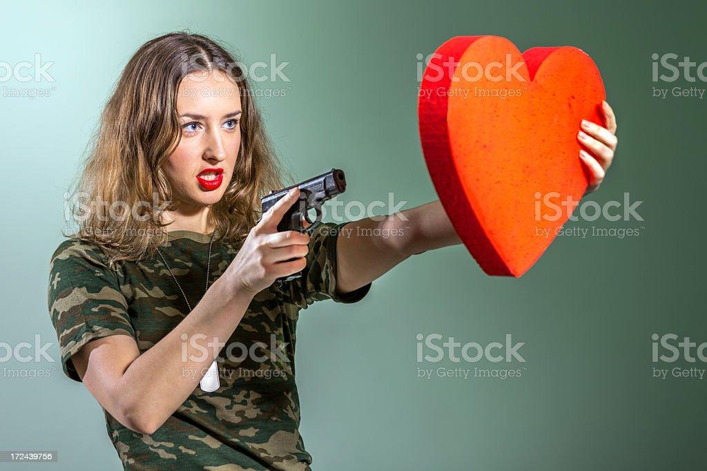 Aiming to heart royalty-free stock photo