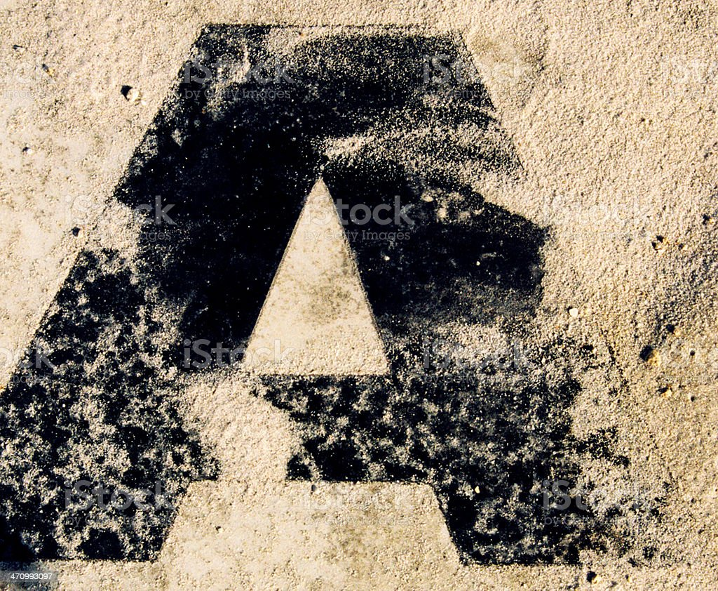 A-in dirt stock photo
