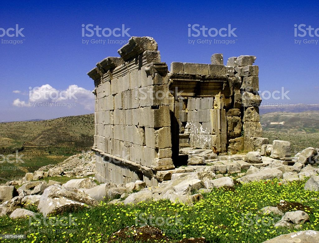 Ain Harsha Roman Temple, Lebanon stock photo