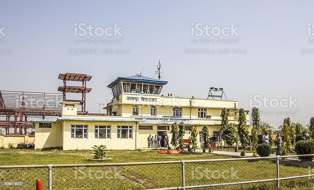 aiport of janakpur stock photo
