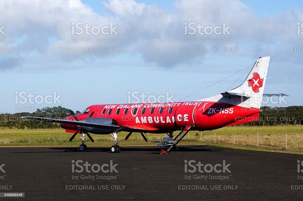 Air ambulance plane stock photo