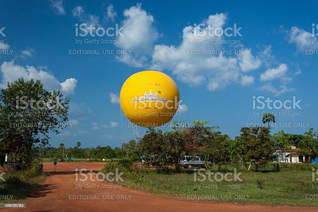 Air balloon in Angkor Wat royalty-free stock photo