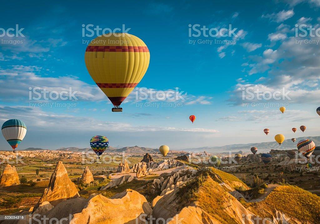 air balloon in Cappadocia, Turkey stock photo