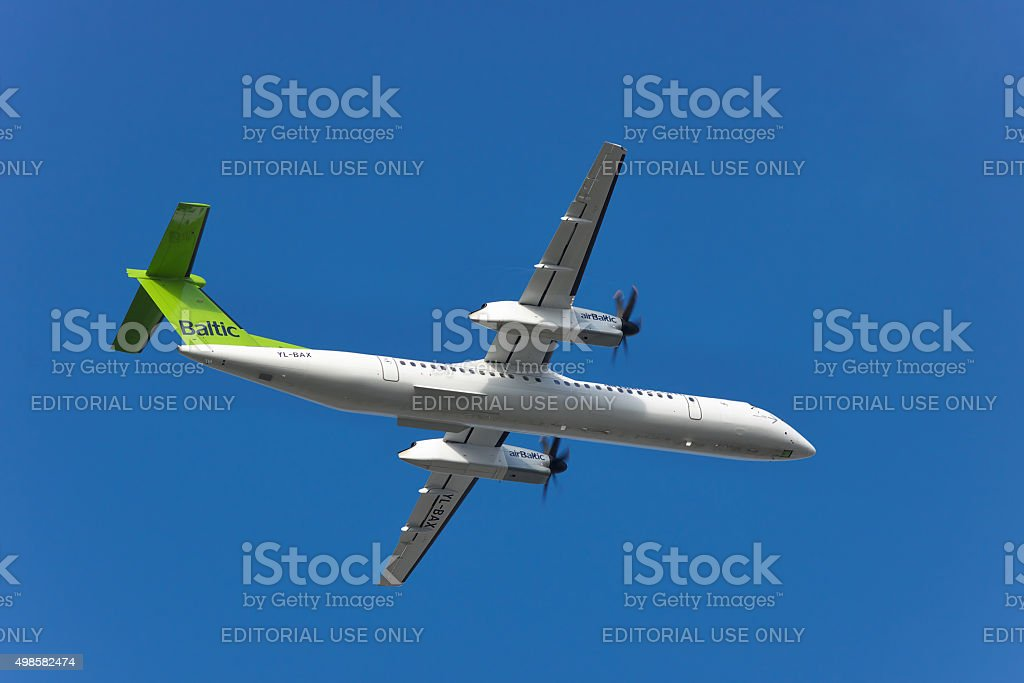 Air Baltic DHC-8 stock photo