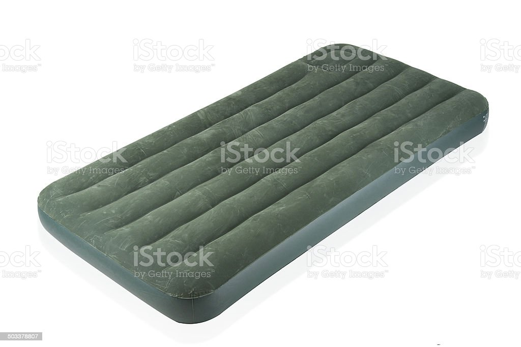 Air bed the camping gear isolated stock photo