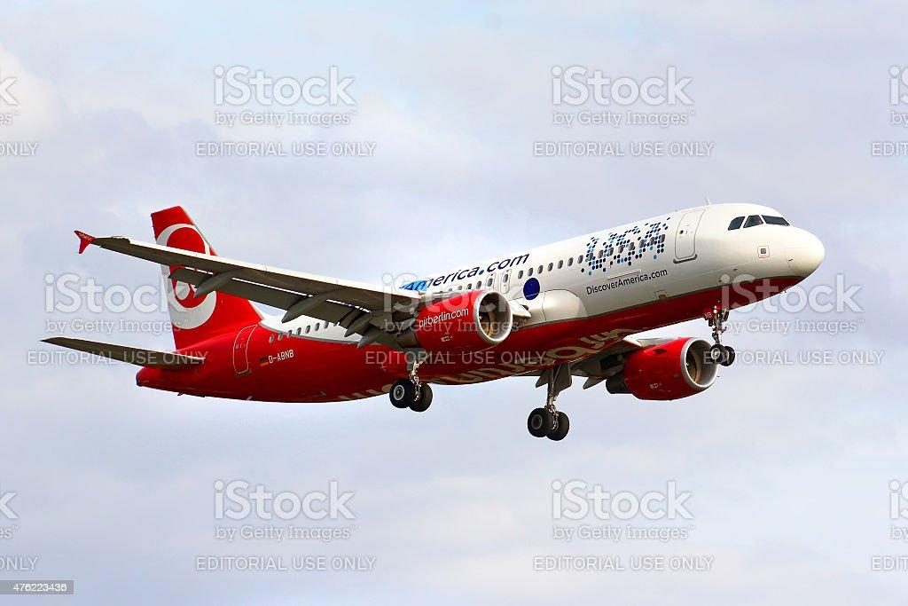 Air Berlin Airbus A320 stock photo