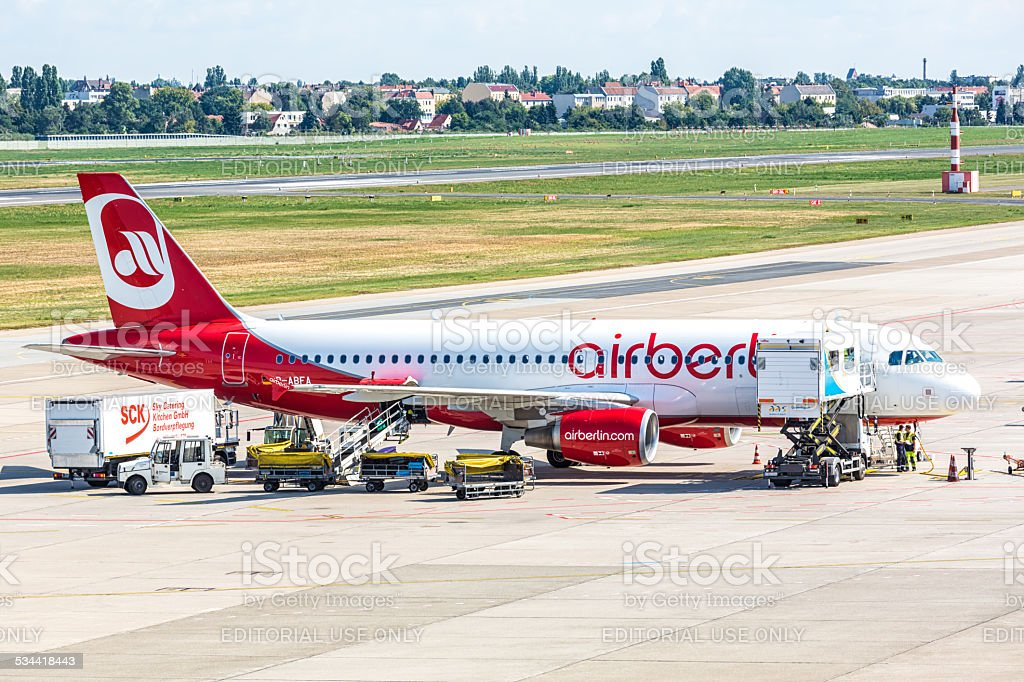 Air Berlin Airplane stock photo