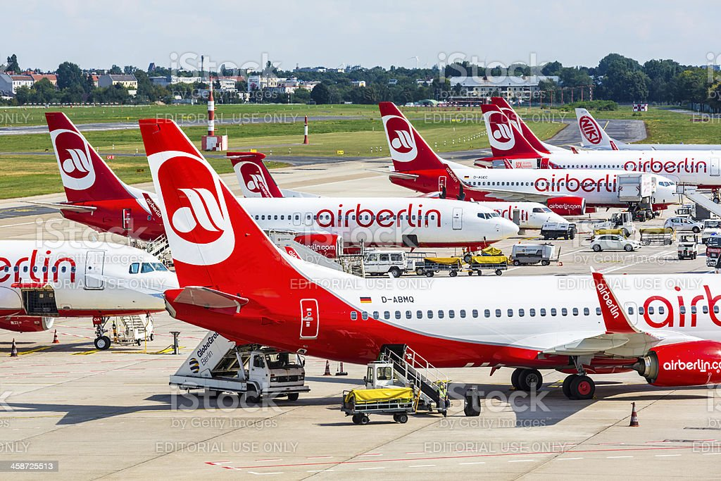 Air Berlin Airplanes stock photo