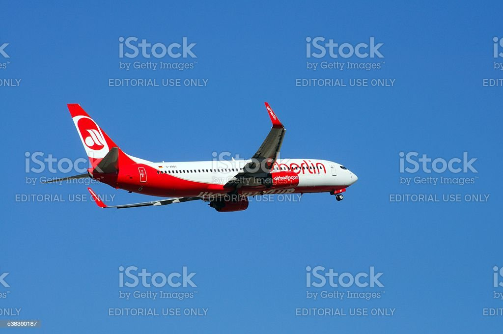 Air Berlin Boeing 737-800. stock photo