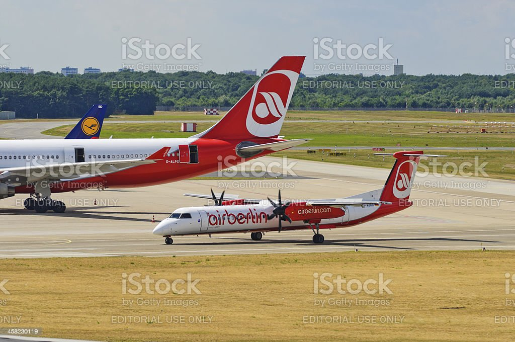 Air Berlin Dash 8Q 402 royalty-free stock photo