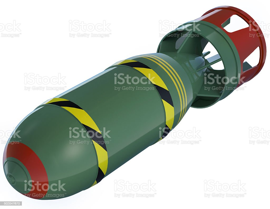 Air bomb stock photo
