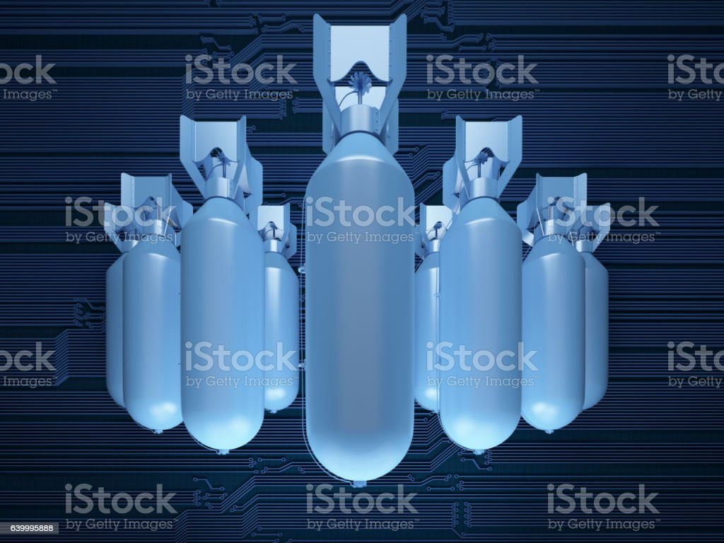 air bombs vector art illustration