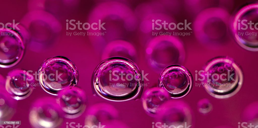 Air bubbles in water.Macro stock photo